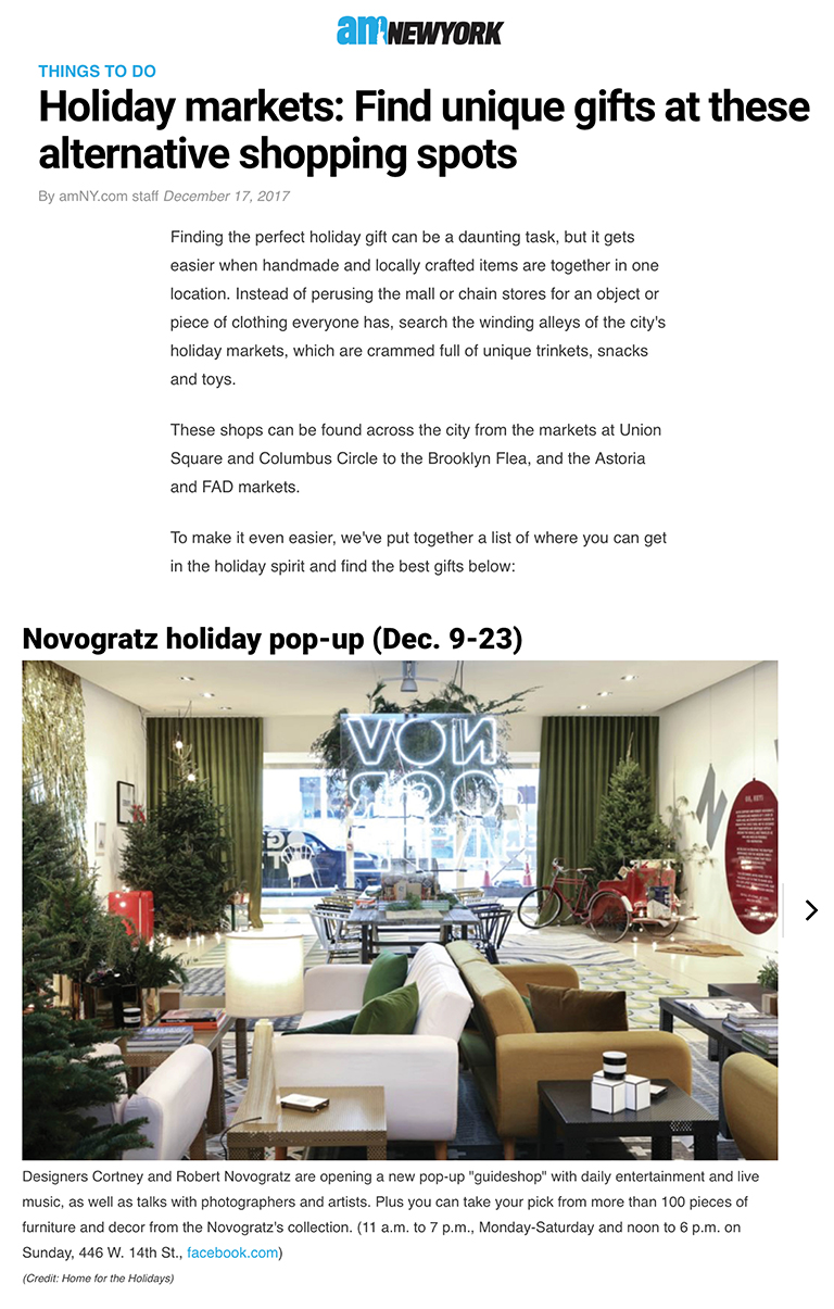 AM New York | Best Holiday Shops