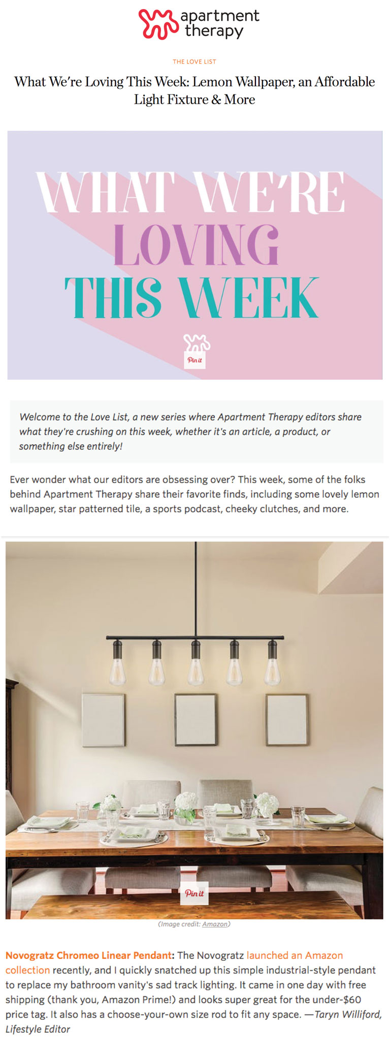 Apartment Therapy | What We're Loving