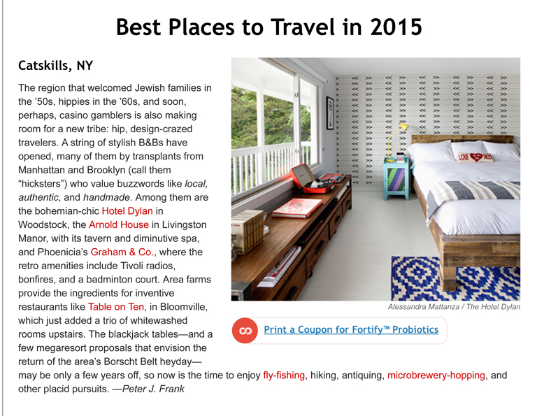 Travel and Leisure: Best Places to Travel in 2015