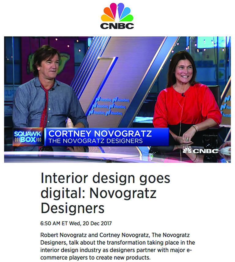 CBNC's Squawk Box | Interior Design Goes Digital