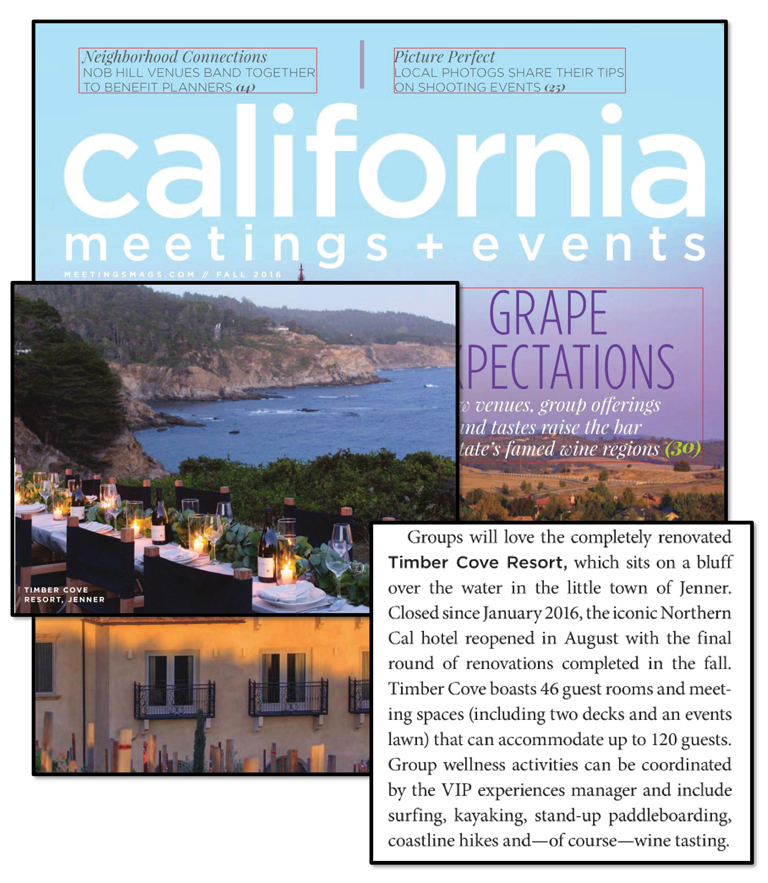 California Meetings + Events | Timber Cove