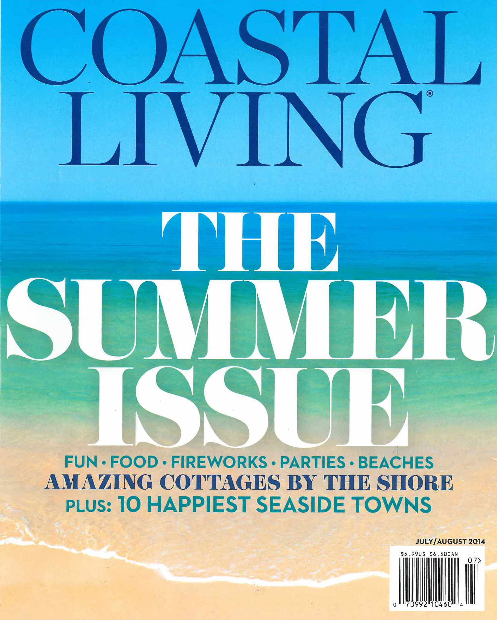 Coastal Living July/August 2014