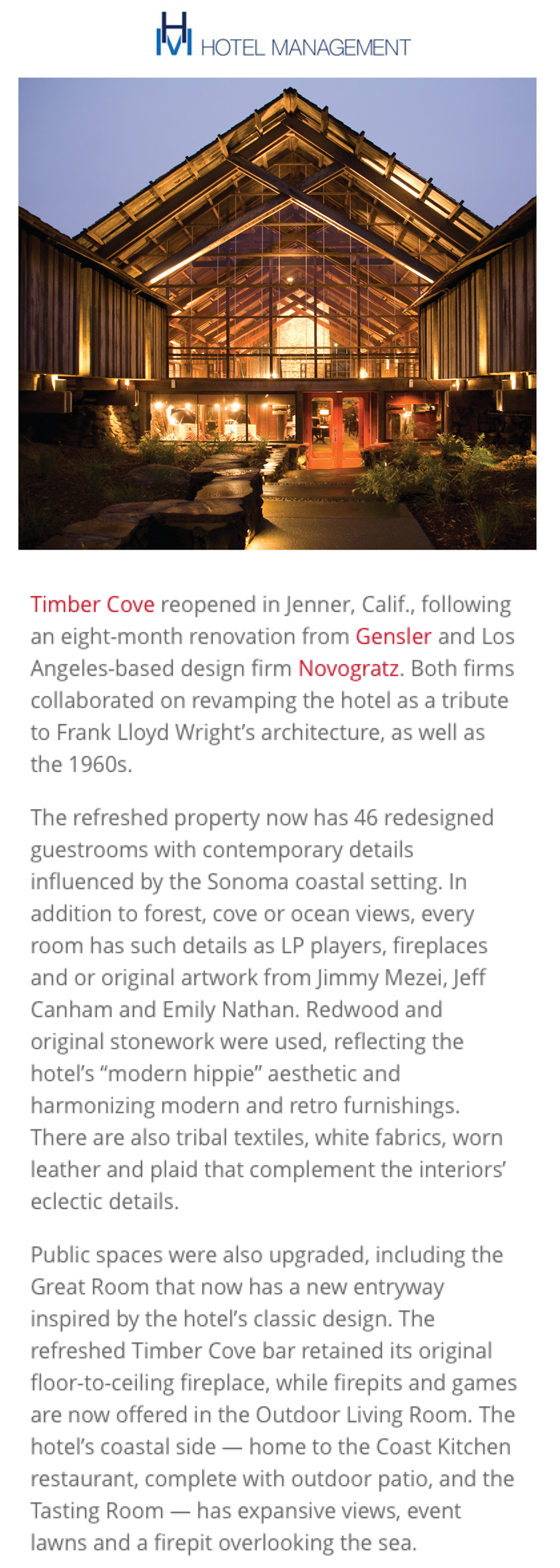 Hotel Management | Timber Cove