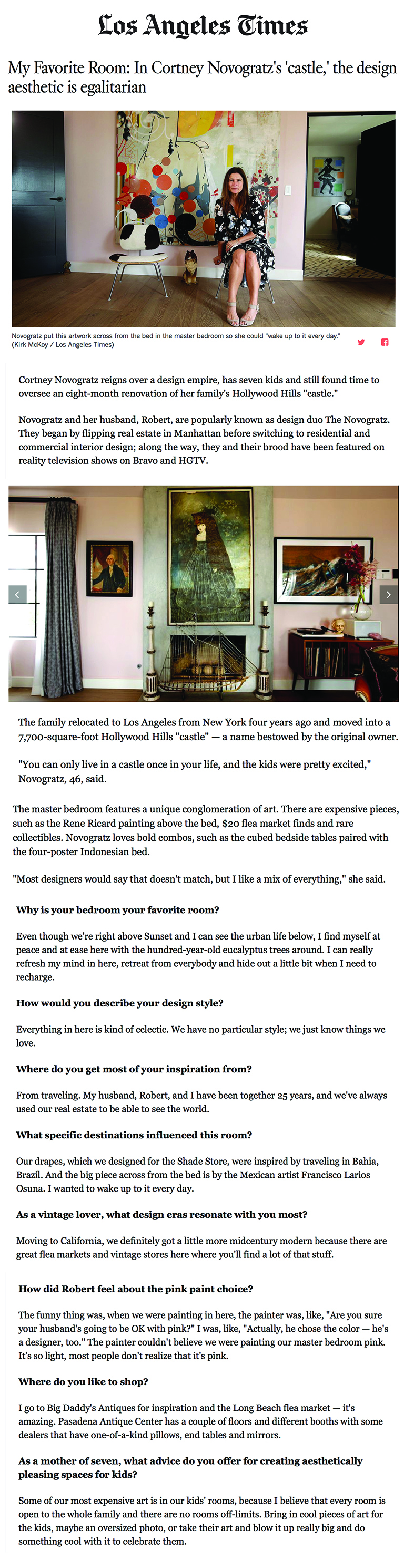 Los Angeles Times | My Favorite Room